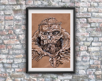 GoT, The Lord of Bones, Game of thrones, home decor, downloadable, fan art, instant gift, ink drawing , wall poster, fantasie