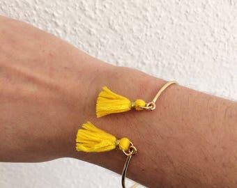 ELÉA bracelet gold and yellow tassels