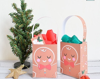 Gingerbread cookie box for printing - Christmas box