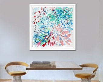 Abstract Painting, Flowers Painting, Floral Art, Flower Abstract Art, Wall Decor
