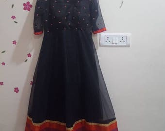 Party wear black gown