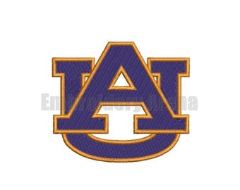 Football embroidery design - (Auburn Tigers) - instant DOWNLOAD digital file