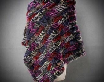 Siraia Rabbit Fur Cape/Renaissance Cape/Viking Cape/Medieval Cape/Fur Stole/Fur Shawl/Fur Wrap/Fur Coat/Bridal Fur/Christmas Gift/Kingdom