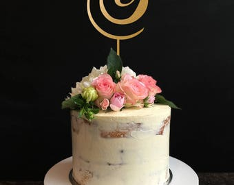 Monogram cake topper, initial cake toppers, single letters Personalized Cake Topper for Wedding, Anniversary, Birthday