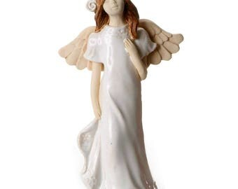 White Angel Figurine | Angel of Joy | Quirky Ceramics | Contemporary Design | Clean & Simple Lines