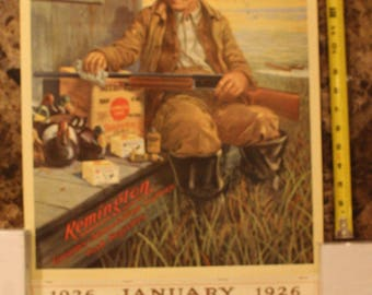 Vintage 1926 1993 Collectible Calendar Art, Remington, Game Load & Cartridges