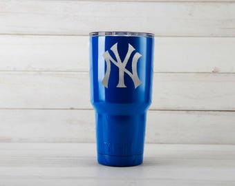 Yeti Tumblers Engraved With New York Yankees Personalized Yeti Tumblers 20 oz New York Yankees Yeti Gift For Men New York Yankees
