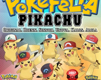 Pikachu | All 6 Ash Caps | 2017 Japanese Event, OT: サトシ | Pokémon Movie 20 I Choose You - Tie In-Distribution