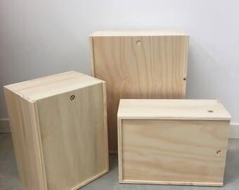 Plain Wooden Box/Gift Box