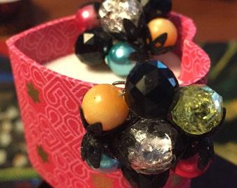 Vintage VIBRANT Jewel tone Earrings