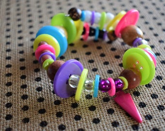 Button and bead bracelets
