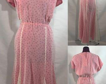 1940's | Vintage Lined Dress | handmade