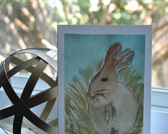 Beautiful {blank} greeting cards made by 8 year old artist:  Bunny