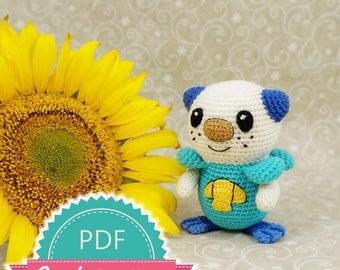 Pokemon Oshawott Crochet Pattern, Amigurumi Crochet Pattern, Pokemon Toy Pattern, Pokemon Crochet Pattern, Kawaii Pokemon Pattern Doll