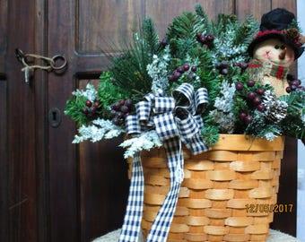 Snowman Door Basket & Door baskets   Etsy pezcame.com