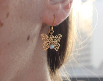 Flying Opal Earring