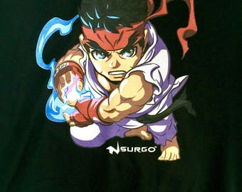 Street Fighter Capcom Limited edition Ryu tee shirt Art by Long Vo Free Shipping
