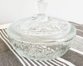 Cut Glass Dish with Lid