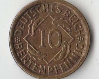 German 1924 J 10 Rentenpfennig