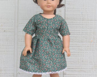 Green Patterned Holiday dress for 18 inch dolls