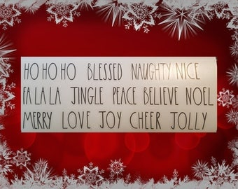 Christmas Rae Dunn Inspired Decals - Choice of Words!