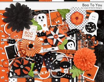 Boo To You Digital Scrapbooking Kit - INSTANT DOWNLOAD