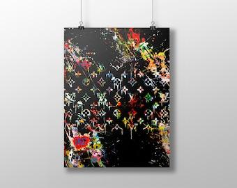 LOUIS VUITTON art poster, fashion art print, lv print, urban art, hip hop art, louis vuitton art, louis v artwork, pop art, trendy art