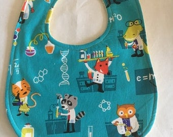 Baby Scientist Bib - critters experimenting