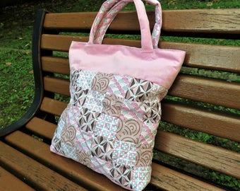 sac en patchwork rose