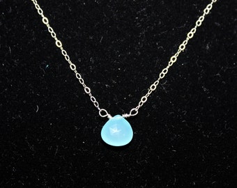 Simple chalcedony necklace