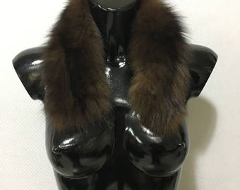 Beautiful Small Brown Fox Fur Collar
