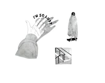 i'm so lost | illustration prints package
