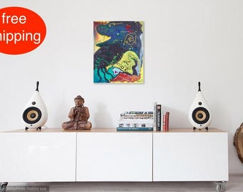 "Ölbild, Ölgemälde, Malerei, ""Dream"", oil painting,  Abstrakt, Öl auf Leinwand, Original, zeitgenössische Kunst, große Leinwand, Wanddeko"