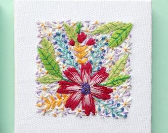Flowers   Handmade   Wall Art   Home Decor   Embroidery   Modern Art   Nursery   Souvenir   Minimalism   Tiny Art   Hand Embroidery   Canvas