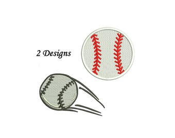 Baseball Embroidery Design - 2 designs instant download - baseball embroidery