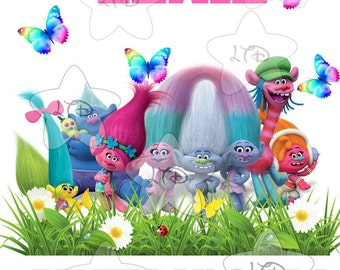 Trolls Birthday Girl Digital Image Or Transfer