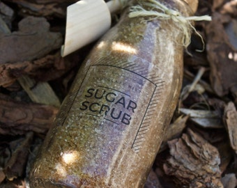 Chocolate Mint Sugar Scrub/ 100% Organic and Vegan