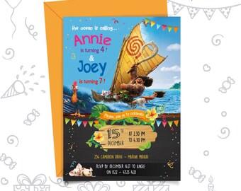 Moana Maui Birthday Invitation | Moana maui invitation | Moana and Maui