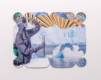explorer, original paper collage