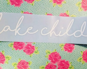 Lake Child Decal, Car Decal, Laptop Decal