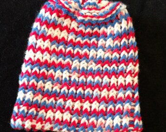 Child sized knitted USA hat