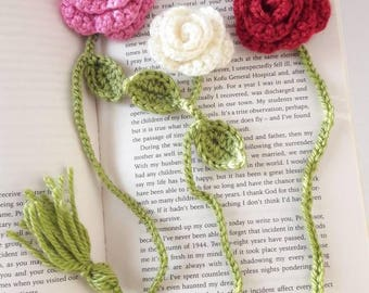 Crochet flower bookmark, bookmark, gift