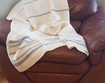 Heirloom Crochet Afghan Blanket- THE SUSAN