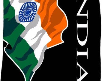 India Custom Flag Fleece Blanket
