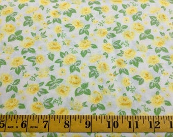 Moda Chloe's Closet Sew & Sew 33183-28 Yellow Green Cotton Fabric By the Yard