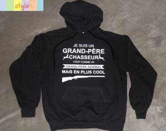 """Men hooded personalized """"I'm a grandfather Hunter"""""""