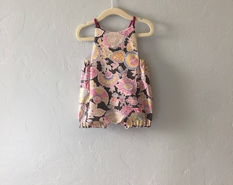 Floral Baby Romper // Girls Romper // Spring Baby Clothes // Birthday Outfit // Toddler Romper // Halter Romper  // Bubble Romper
