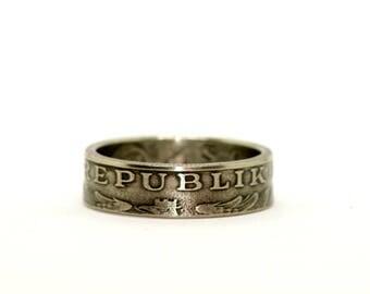 Austria 10 Shilling (1974) Coin Ring