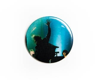 Warren Ellis conducting Nick Cave and The Bad Seeds live concert photography 2 1/4 inch photo pin back button
