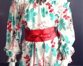 Floral printed blouse Elna.